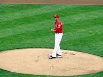 Robert Stephenson fait son Major League Baseball Debut photographie stock libre de droits