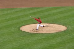 Robert Stephenson fait son Major League Baseball Debut photographie stock