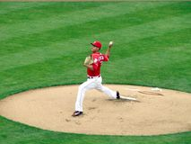 Robert Stephenson macht seinen Major League Baseball Debut stockfotos
