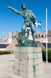 Robert Surcouf famous French corsair statue in St Malo Brittany Stock Image