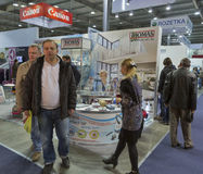 Robert Thomas company booth at CEE 2015, the largest electronics trade show in Ukraine Royalty Free Stock Images