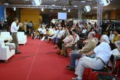 Robert Turcescu. Romanian tv star, producer, presenter at a press conference Stock Image