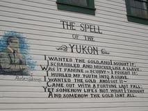Robert Usługuje wiersza â€' Dawson miasto, Yukon, Kanada obrazy stock