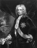 Robert Walpole, primo conte di Orford Fotografia Stock