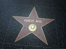Robert Wise-ster in hollywood Royalty-vrije Stock Foto