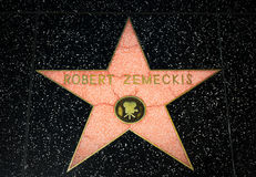 Robert Zemeckis Star on the Hollywood Walk of Fame Royalty Free Stock Photos