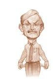 Robert Zoelick caricature sketch stock images