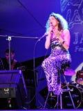 Roberta Gambarini på Java Jazz Festival Fotografering för Bildbyråer