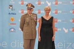 Roberta Pinotti e il Generale Claudio Graziano al Giffoni Film Festival 2015 Stock Photos