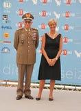 Roberta Pinotti e il Generale Claudio Graziano al Giffoni Film Festival 2015 Royalty Free Stock Photo