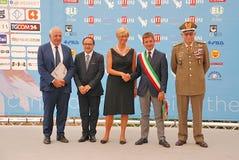 Roberta Pinotti e il Generale Claudio Graziano al Giffoni Film Festival 2015 Stock Photography
