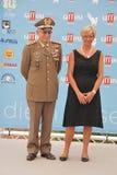 Roberta Pinotti e il Generale Claudio Graziano al Giffoni Film Festival 2015 Royalty Free Stock Image