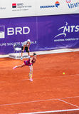 Roberta Vinci playing the QF of Bucharest Open WTA. Roberta Vinci playing during the QF of Bucharest Open WTA, July the 11th, 2014, tennis match against Petra Royalty Free Stock Photos