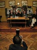Robertino Loretti, bezoek in Moskou, Rusland, 20-04-2003 Royalty-vrije Stock Foto's