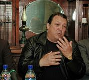 Robertino Loretti, bezoek in Moskou, Rusland, 20-04-2003 Stock Fotografie