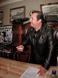 Robertino Loretti, visita em Moscou, Rússia, 20-04-2003 fotografia de stock royalty free