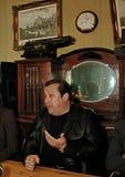 Robertino Loretti, visita em Moscou, Rússia, 20-04-2003 imagens de stock