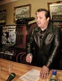 Robertino Loretti, visita em Moscou, Rússia, 20-04-2003 imagens de stock royalty free