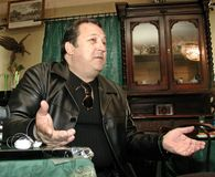 Robertino Loretti, visita em Moscou, Rússia, 20-04-2003 foto de stock royalty free