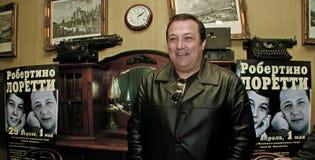 Robertino Loretti, visita em Moscou, Rússia, 20-04-2003 foto de stock