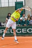 Roberto Bautista Agut στην τρίτη στρογγυλή αντιστοιχία, Roland Garros 2014 Στοκ Εικόνες