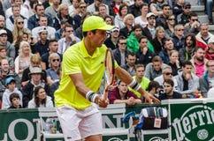 Roberto Bautista Agut in third round match, Roland Garros 2014 Royalty Free Stock Photos