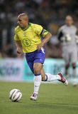 Roberto Carlos. Brazilian player Roberto Carlos in action during the friendly match between Catalonia vs Brazil at Nou Camp Stadium in Barcelona, Spain. May 25 Stock Photo
