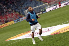 Roberto Carlos. At Steaua - Fenerbahce match Royalty Free Stock Photography