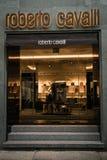 Roberto Cavalli-boutique Milaan Stock Afbeelding