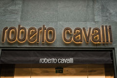 Roberto Cavalli-boutique Milaan Stock Fotografie