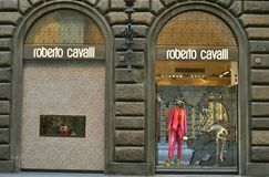 Roberto Cavalli fashion shop in Italy royalty free stock photography