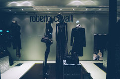 Roberto Cavalli, shop window, Stock Images