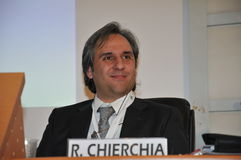 Roberto Chierchia, general secretary of CISL FP of Rome Royalty Free Stock Photography