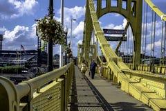 Roberto Clemente Bridge crossing Royalty Free Stock Photo
