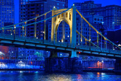 Roberto Clemente Bridge at Night Stock Image
