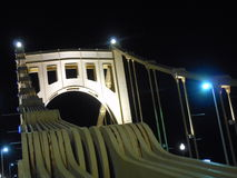 Roberto Clemente Bridge, Pittsburgh. A night view of one Roberto Clemente Bridge, in Pittsburgh, USA Royalty Free Stock Photography