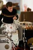Roberto Drumo Vignandel che gioca con la prestazione del Audiopaint di Giulio Masieri Fotografia Stock Libera da Diritti