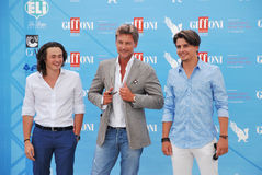 Roberto Farnesi,Micaela Campana,Viorel Mitu e Leonardo Borgognoni al Giffoni Film Festival 2015 Royalty Free Stock Photos