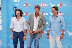 Roberto Farnesi,Micaela Campana,Viorel Mitu e Leonardo Borgognoni al Giffoni Film Festival 2015 Stock Photos