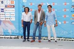 Roberto Farnesi,Micaela Campana,Viorel Mitu e Leonardo Borgognoni al Giffoni Film Festival 2015 Stock Photography