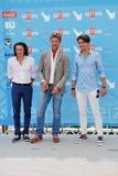 Roberto Farnesi,Micaela Campana,Viorel Mitu e Leonardo Borgognoni al Giffoni Film Festival 2015 Royalty Free Stock Photo