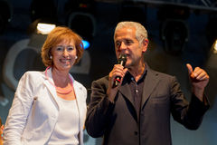 Roberto Formigoni and Letizia Moratti speaking. Stock Photography