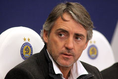 Roberto Mancini of Manchester City Stock Image