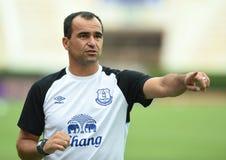 Roberto Martinez Manager av Everton royaltyfria bilder