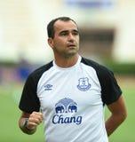Roberto Martinez Manager av Everton fotografering för bildbyråer