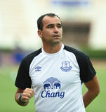 Roberto Martinez Manager of Everton Stock Image