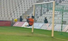 Roberto Santamari from match league Cordoba-Girona Stock Image