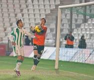Roberto Santamari from match league Cordoba-Girona Royalty Free Stock Images