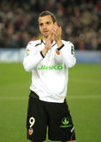 Roberto Soldado of Valencia Royalty Free Stock Images