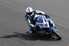 Roberto Tamburini #91 on Suzuki GSX-R 600 NS Suriano Corse Supersport championship WSS Royalty Free Stock Photography